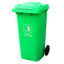 120L de basura plástica al aire libre con ruedas (yw0017)