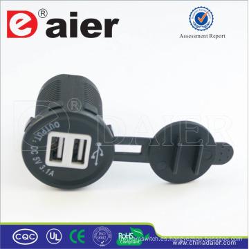 Adaptador del cargador de Daier 5V 3A USB / zócalo del cargador del USB / zócalo del USB
