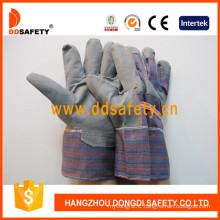 Grey PVC Gloves with Stripe Back Dgp109