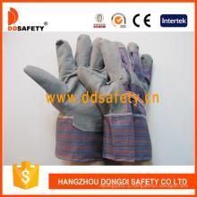 Серый ПВХ перчатки с полосой сзади Dgp109
