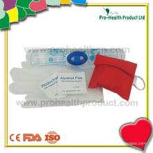 Kit CPR avec gants et coussin d'alcool (pH04-05)