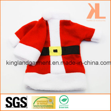 Quality Christmas Decoration Red Santa Men Style Wine Bottle Cover