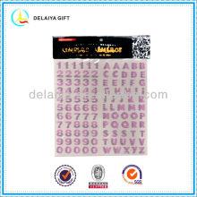 Fashion GItter Alphabet Letters Sticker