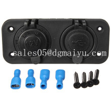 12V двойной USB зарядное устройство Разъем питания для автомобиля