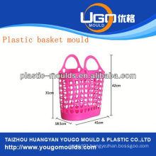 plastic fruit basket moulding supplier injection basket mould in taizhou zhejiang china