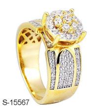 Новый 14k позолоченный стерлингового серебра кольцо ювелирных изделий