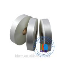 Etiquette de soin de lavage en satin d'impression sur mesure en polyester tissé pour vêtement