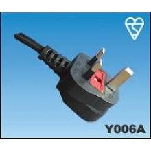 Puissance câble Uk style BS approbation cordon de 13 ampères fusible