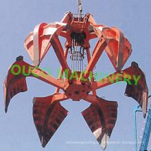 Caçamba de garra mecânica de 6 cordas Força forte