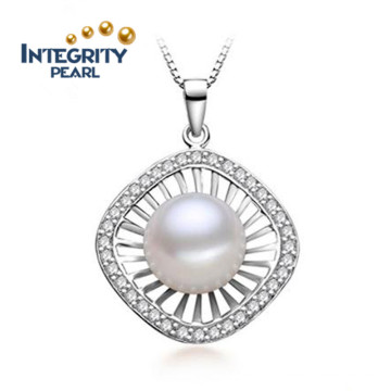 Freshwater Fashion Pearl Pendant 10-11mm Button Pearl AAA Natural Jewel Pearl Pendant
