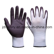 Nylon Work Glove with Water Based PU Palm Coating (PN8123)