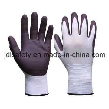 Nylon-Arbeitshandschuh mit Wasser basierte PU Palm Beschichtung (PN8123)