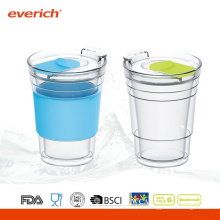 Promotion 300ml Großhandel Glas Cups mit Silikon Hülle