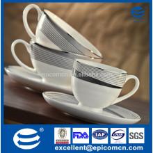 magic decoration metalic effect porcelain coffee set Cup & Saucer 90cc to 250cc