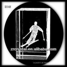 K9 3D Laser Subsurface Skifahren im Inneren Crystal Rectangle
