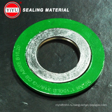 Горячая распродажа! Металлическая спирально-навитая прокладка Ss304 с наружным кольцом CS Краска для окраски Желтая или зеленая прокладка