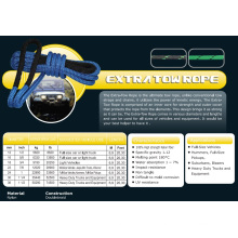 """1/2 """"X20.3 'Cuerda de remolque extra de la línea / vehículos / Hummers / Suburbans / Blazers / Heavy Duty Track & Equipment"""