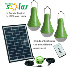 Nueva casa solar portátil de CE luces para interior casa, solar 3W luz; casa solar casa luces con panel solar de PV (JR-SL988 serie)