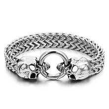 Custom Wholesale Neo-Gothic Franco Chain Bracelet with Spring Clasp Amazon Hot Selling Curb Chain Stainless Steel