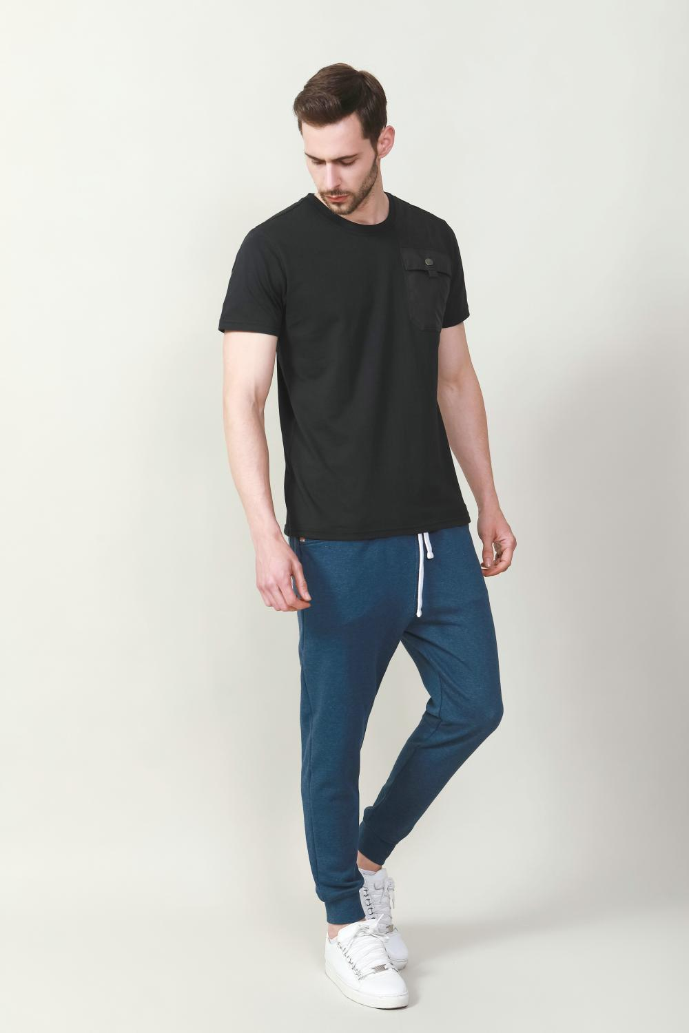 Men's solid color fashion t-shirt