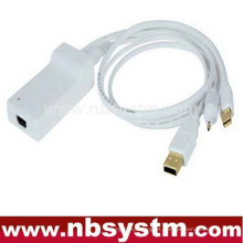Mini DisplayPort e USB 2.0 Áudio e Digital Entrada óptica e saída HDMI