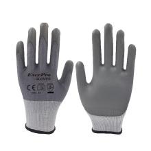 15 Gauge HPPE Cut Level 5 Shell PU Coating Gloves With EN 388