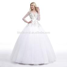 2017 white color winter long sleeve lace fishtail plus size wedding dress patterns
