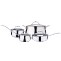 Apple shape 8-piece casserole dishes with glass lids