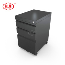 Mobile pedestal modern metal storage wheeled file cabinet
