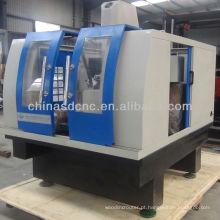 Fresadora de 3 eixos cnc para metais pesados JK-6075 com servomotores de alta precisão