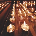 Home decoration use no handmade tealight candle