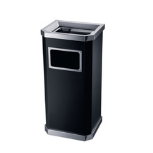 Stainless Steel Dustbin for Lobby with Ashtray (YW0051)