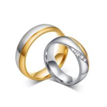 Elegant gold indian rings, china bridal wedding rings sets
