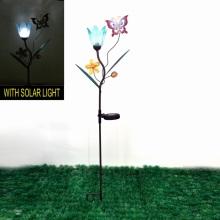 Décoration de jardin Metal Solar Lighted Butterfly Stake