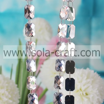 15 * 21MM Shinny Rectangle Faux Crystal oblong Bead sfaccettato per hotel