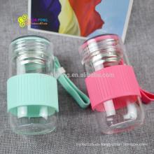 Botella de agua de cristal del precio más barato de la taza de la publicidad de la moda del logotipo del OEM 280ml