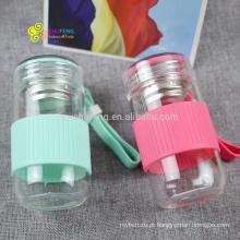 280 ml OEM logotipo moda publicidade copo preço mais barato garrafa de água de vidro