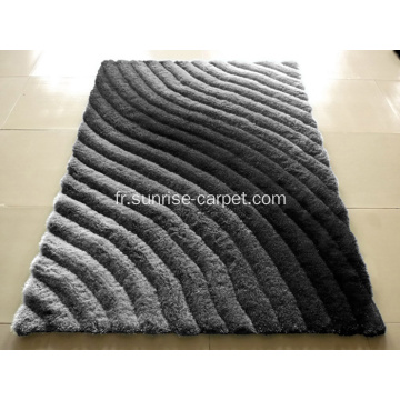 Tapis Shaggy polyester conception 3D