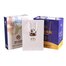 Factory Custom Logo Recyclable Grocery Shopping Bag Natural Color Handle Brown Kraft Paper Bag