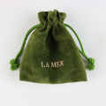 Promotional green velvet gift bag wholesale