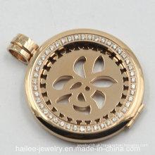 Personalizado de aço inoxidável moda jóias pingente de moedas