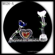 K9 Flor de Cristal Branca e Azul