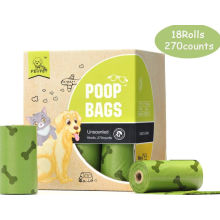 18 Recargas Rolls Compostable Pet cocô sacos