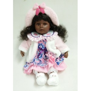 "20"" Hat And Flower Vinyl Doll"