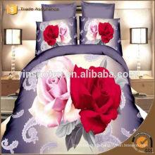 New design pretty elegant luxury home useful 100% cotton 3d bedding set