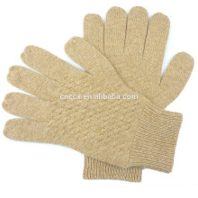15CB9297 Cable knit Mens Cashmere Gloves