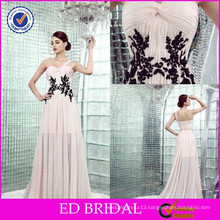 ED-YH2446 One-shoulder Sexy Two Color Black Lace Evening Night Gowns