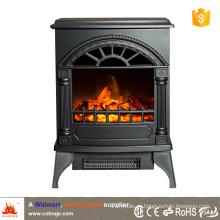 CSA / CE pequeno fogão a lenha estilo aquecedor lareira elétrica