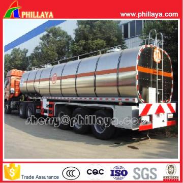 Aluminium Tanker Semi Trailer for Fuel/Oil Transportation