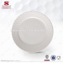 Assiettes en porcelaine blanche vaisselle en porcelaine blanche plats personnalisés pour restaurant